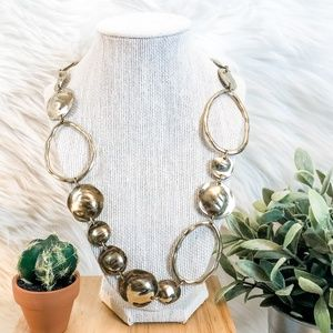 Chico's Long Multiple Circular Gold Necklace